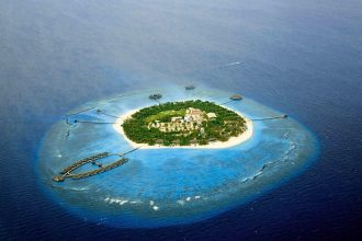 Velaa Private Island Maldives Aerial Shot