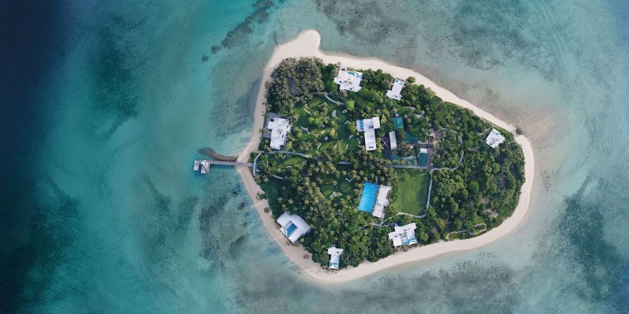 Banwa Private Island - aerial view